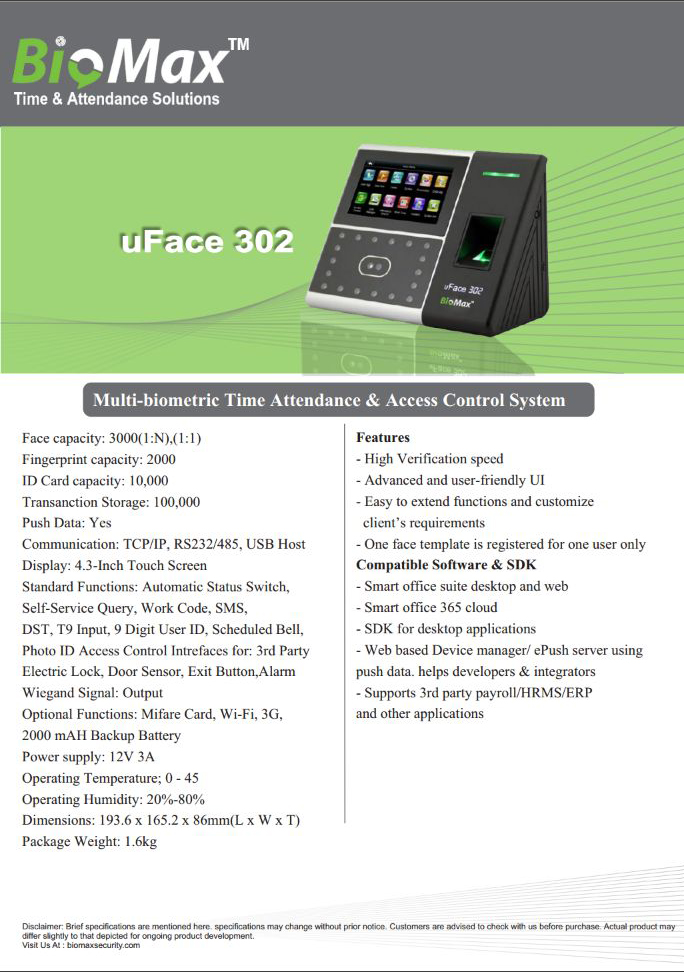 uFace 302